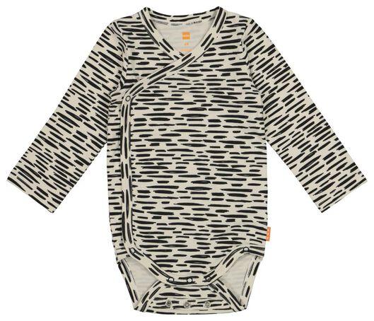 newborn wrap-around bodysuit - with bamboo - stretch white white - 1000017648 - hema
