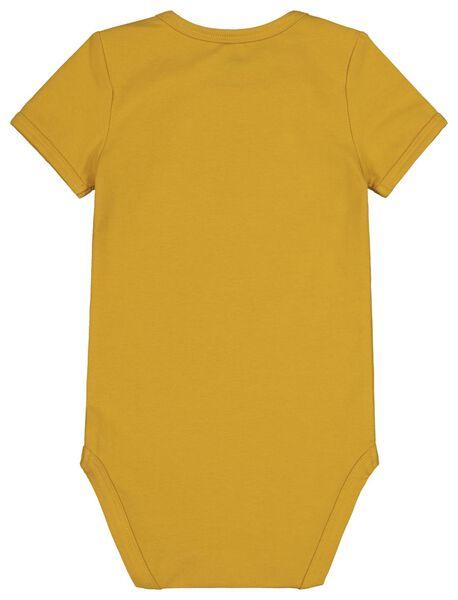 bodysuit organic cotton stretch yellow yellow - 1000017810 - hema