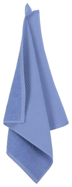 kitchen towel - 50 x 50 - cotton honeycomb blue - 5490042 - hema