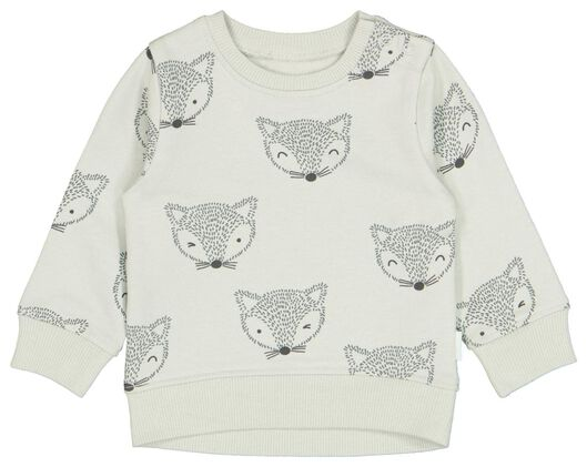 Babyoberteile - HEMA Newborn Sweatshirt, Fuchs Grün - Onlineshop HEMA