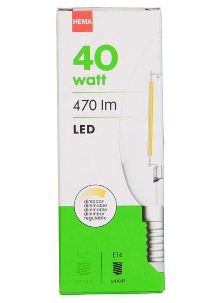 LED light bulb 40W - 470 lm - candle - bright - 20020019 - hema