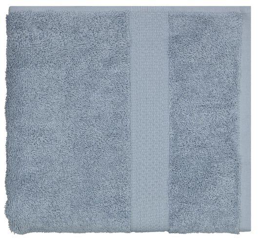 serviette de bain 50x100 qualité épaisse bleu glacier bleu handdoek 100 x 150 - 5230039 - HEMA