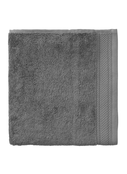 towel - 50 x 100 cm - hotel extra thick - dark grey plain dark grey towel 50 x 100 - 5240069 - hema