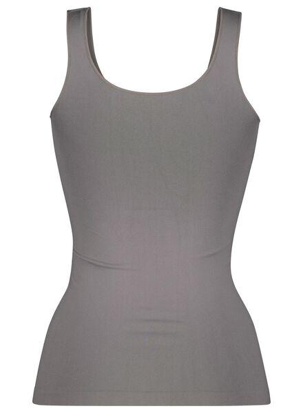 Damen-Hemd, nahtlos, Mikrofaser grau grau - 1000015695 - HEMA