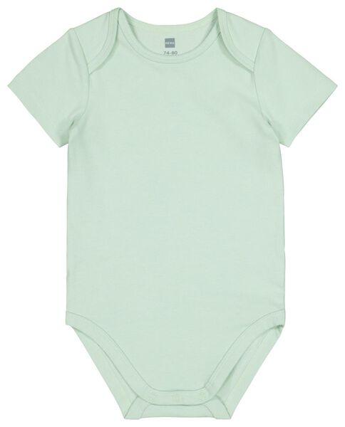bodysuit organic cotton stretch mint green - 1000017800 - hema