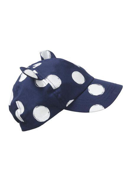 Babyaccessoires - HEMA Baby UV Schutz Schirmmütze Dunkelblau - Onlineshop HEMA