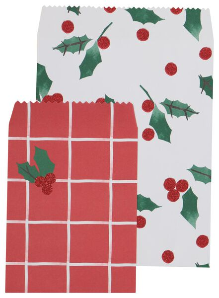 4 sacs à cadeaux houx - 25700148 - HEMA