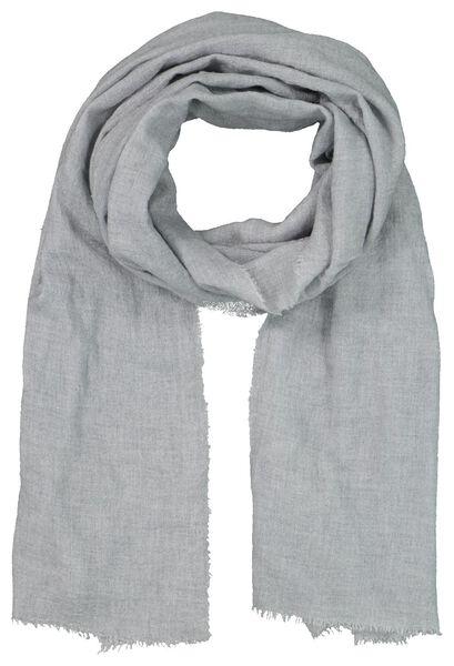 women's scarf 200x60 wool mix light grey - 1790027 - hema