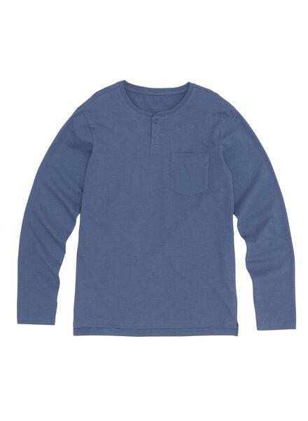 men's T-shirt dark blue dark blue - 1000006116 - hema