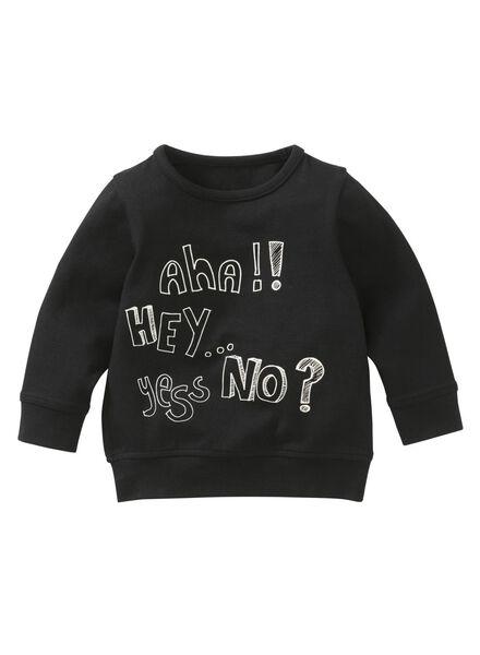 HEMA Baby Sweatshirt Schwarz