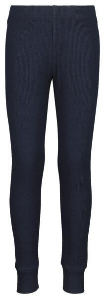 kinderpyjama rib met bamboe blauw blauw - 1000021053 - HEMA