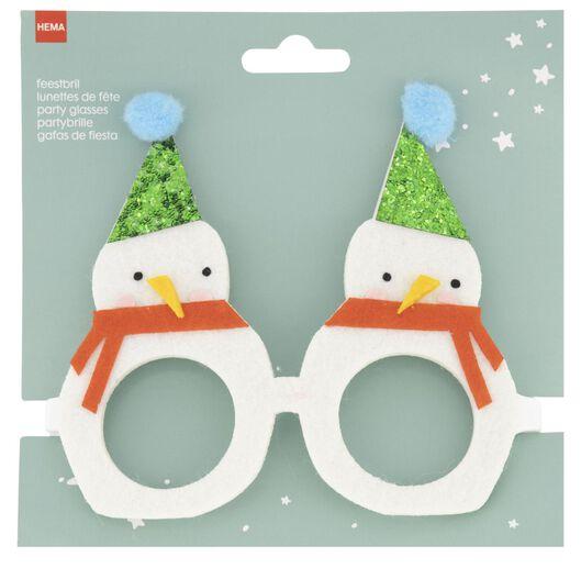 party glasses snowman - 25260012 - hema