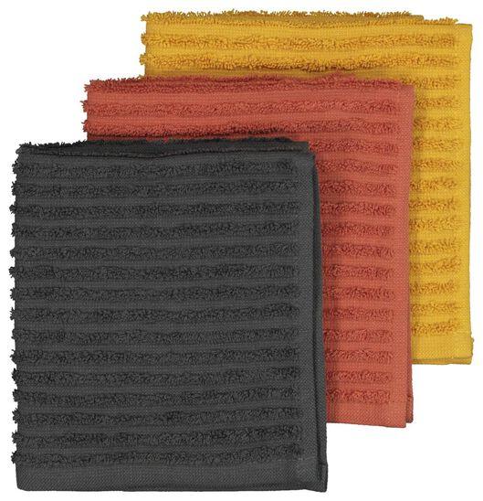 3 cotton dishcloths - 30x30 - multi - 5410116 - hema