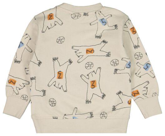baby sweater bears ecru ecru - 1000022149 - hema