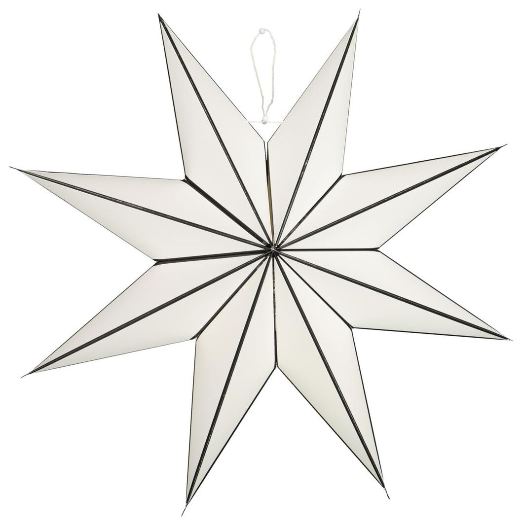 étoile de noël en papier Ø70cm blanc - 25104345 - HEMA
