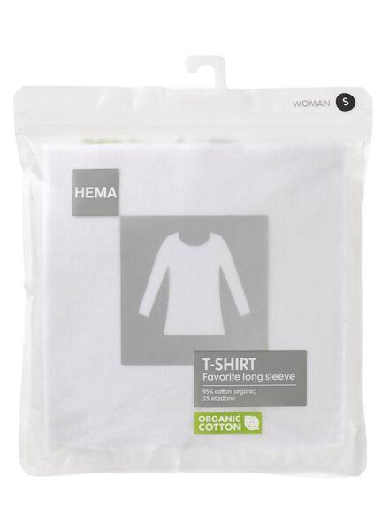 t-shirt femme blanc blanc - 1000005478 - HEMA