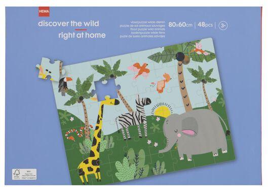 Bodenpuzzle, 80 x 60 cm, Tiere, 48 Teile - 15180043 - HEMA