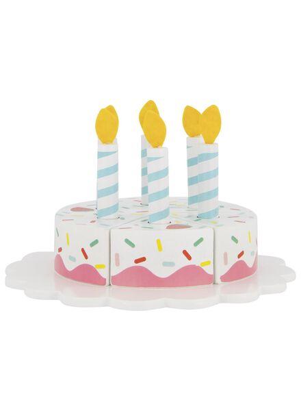 gâteau en bois Ø 8 cm - 14 pièces - 15190292 - HEMA