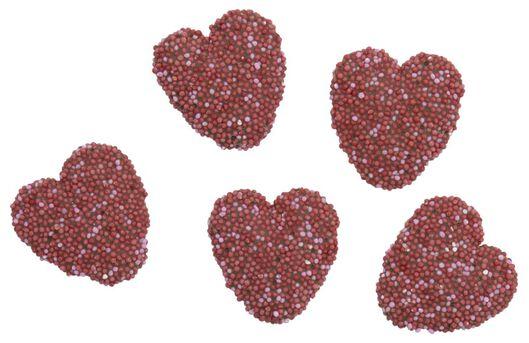 coeurs en chocolat aux granulés de sucre 150g - 10050014 - HEMA