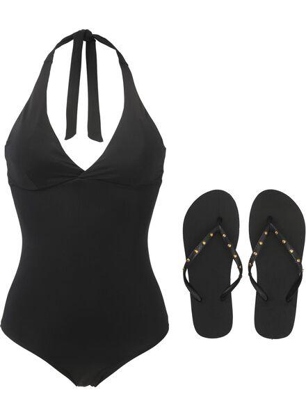 women's bathing suit padded black black - 1000006619 - hema