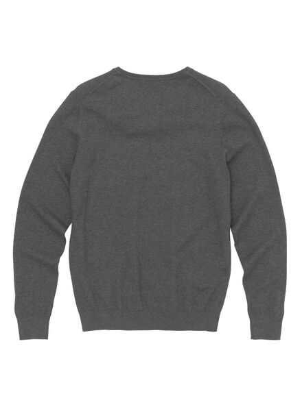 men's sweater grey melange grey melange - 1000005864 - hema