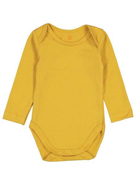 body coton biologique stretch jaune jaune - 1000015308 - HEMA