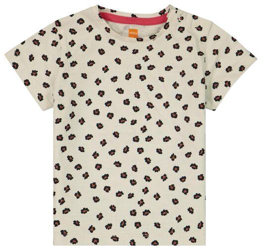 Baby-T-Shirt, Leopardenmuster eierschalenfarben 92 - 33030447 - HEMA
