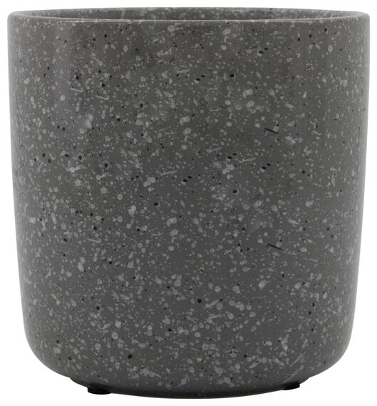 flowerpot Ø13.5x13.5 earthenware grey - 13311037 - hema