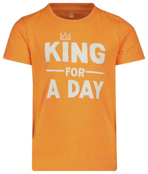 children's T-shirt bright orange bright orange - 1000018921 - hema