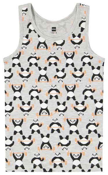 2er-Pack Kinder-Hemden, Pandas graumeliert graumeliert - 1000023779 - HEMA