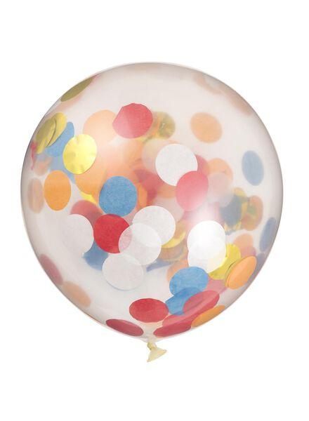 6 ballons confetti - 25200238 - HEMA