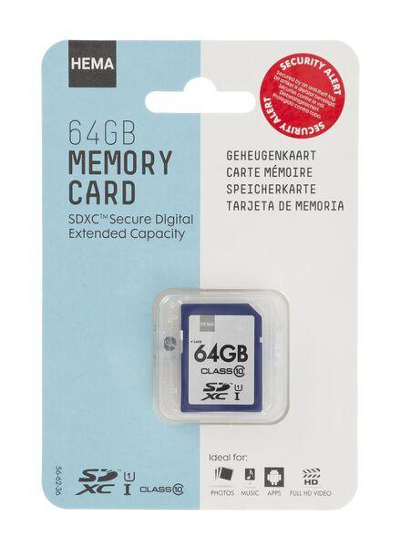 carte mémoire SDXC 64 Go - 39512302 - HEMA
