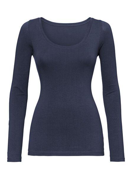 T-Shirt, Damen dunkelblau dunkelblau - 1000005157 - HEMA
