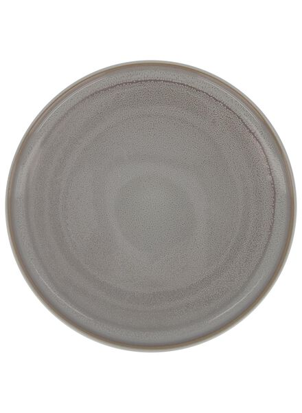 dinner plate 26 cm - helsinki - reactive glaze - light grey - 9602013 - hema