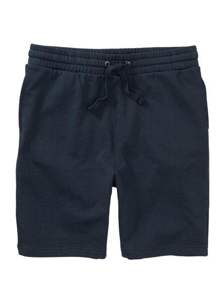 men's shorts sweatshirt fabric dark blue dark blue - 1000006131 - hema