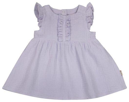Baby-Kleid, Musselin lila lila - 1000023569 - HEMA