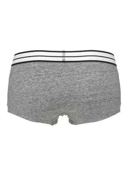 women's boxer shorts grey melange grey melange - 1000006579 - hema