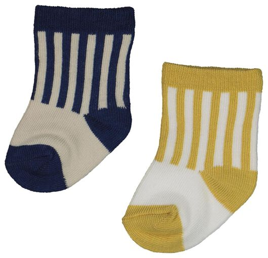 2-pack newborn baby socks with bamboo blue blue - 1000018743 - hema