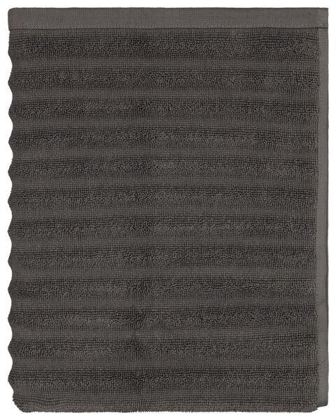 tapis de bain 50x85 rayé gris foncé - 5230048 - HEMA