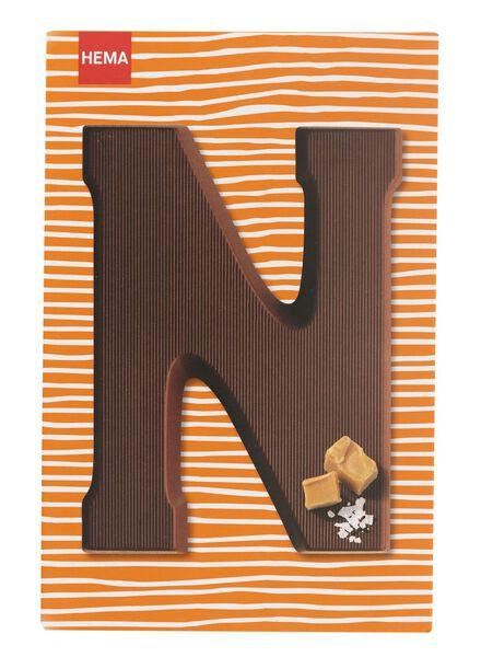 caramel sea salt milk chocolate letter N - 10039014 - hema