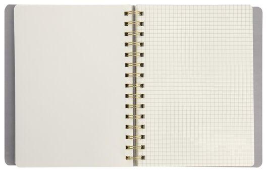 Notizbuch, Spiralbindung, 20 x 15.5 cm, blanko/liniert/kariert - 14590230 - HEMA