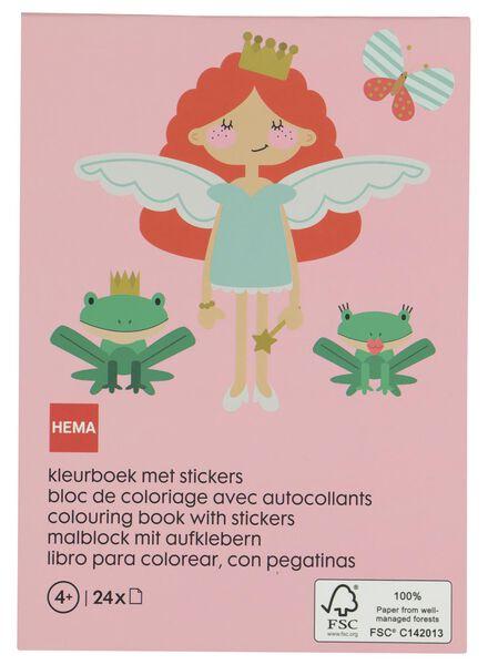 kleurboek met stickers - 15920043 - HEMA