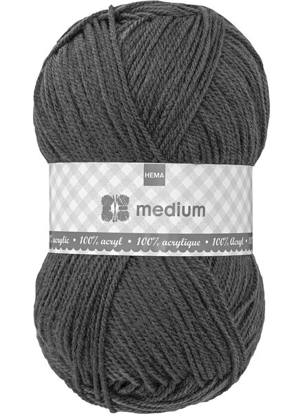 knitting yarn medium - dark grey medium 100 g dark grey - 1400047 - hema