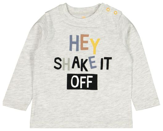 baby t-shirt hey grijs grijs - 1000022154 - HEMA