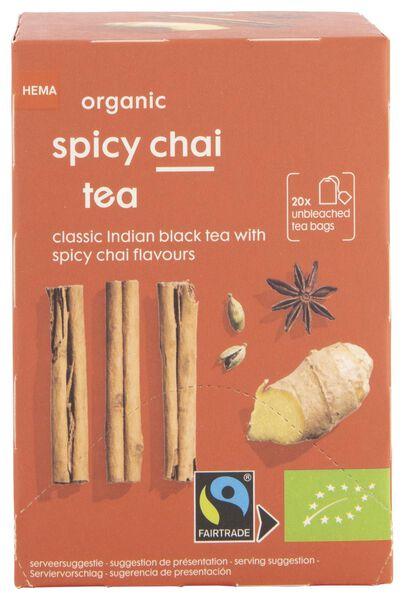 thee bio pittige chai thee 20 stuks - 17190009 - HEMA