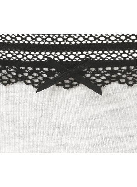 women's thong grey melange grey melange - 1000006537 - hema