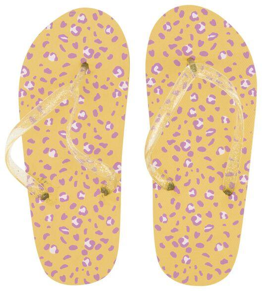 Kinder-Zehensandalen gelb gelb - 1000018365 - HEMA