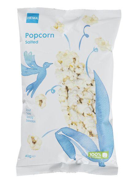 popcorn salé 40 grammes - 10640021 - HEMA