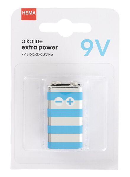 9 V Alkaline-Batterie, Extrapower - 41290264 - HEMA
