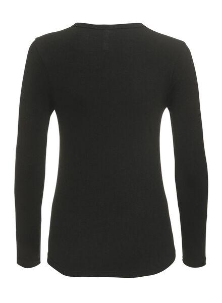 Damen-Thermoshirt schwarz schwarz - 1000002186 - HEMA